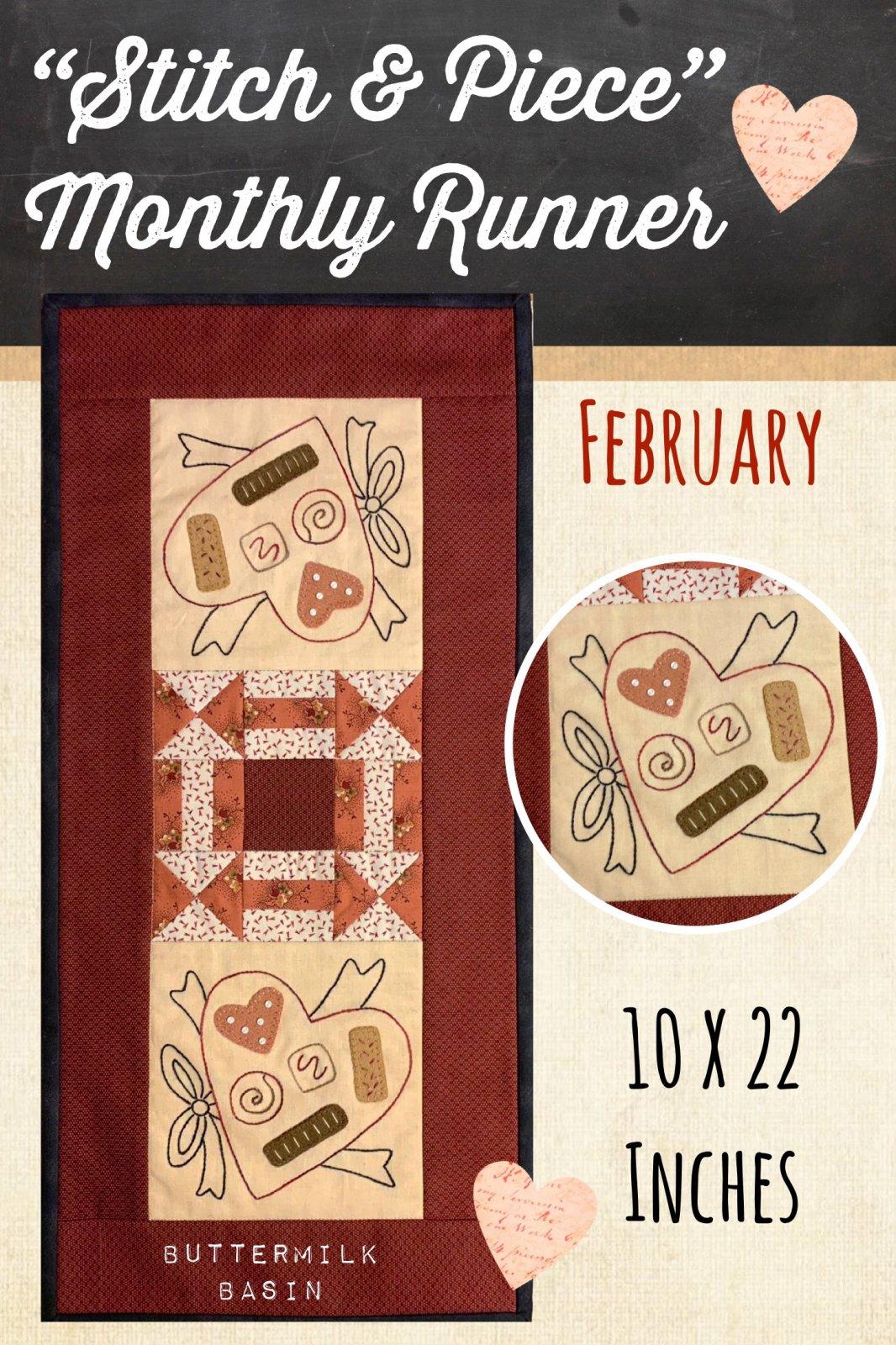 Stitch & Piece February * Kit and Pattern