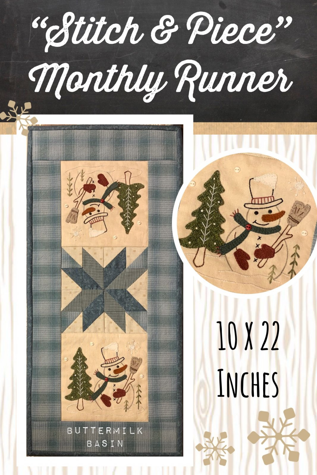 Stitch & Piece January * Pattern