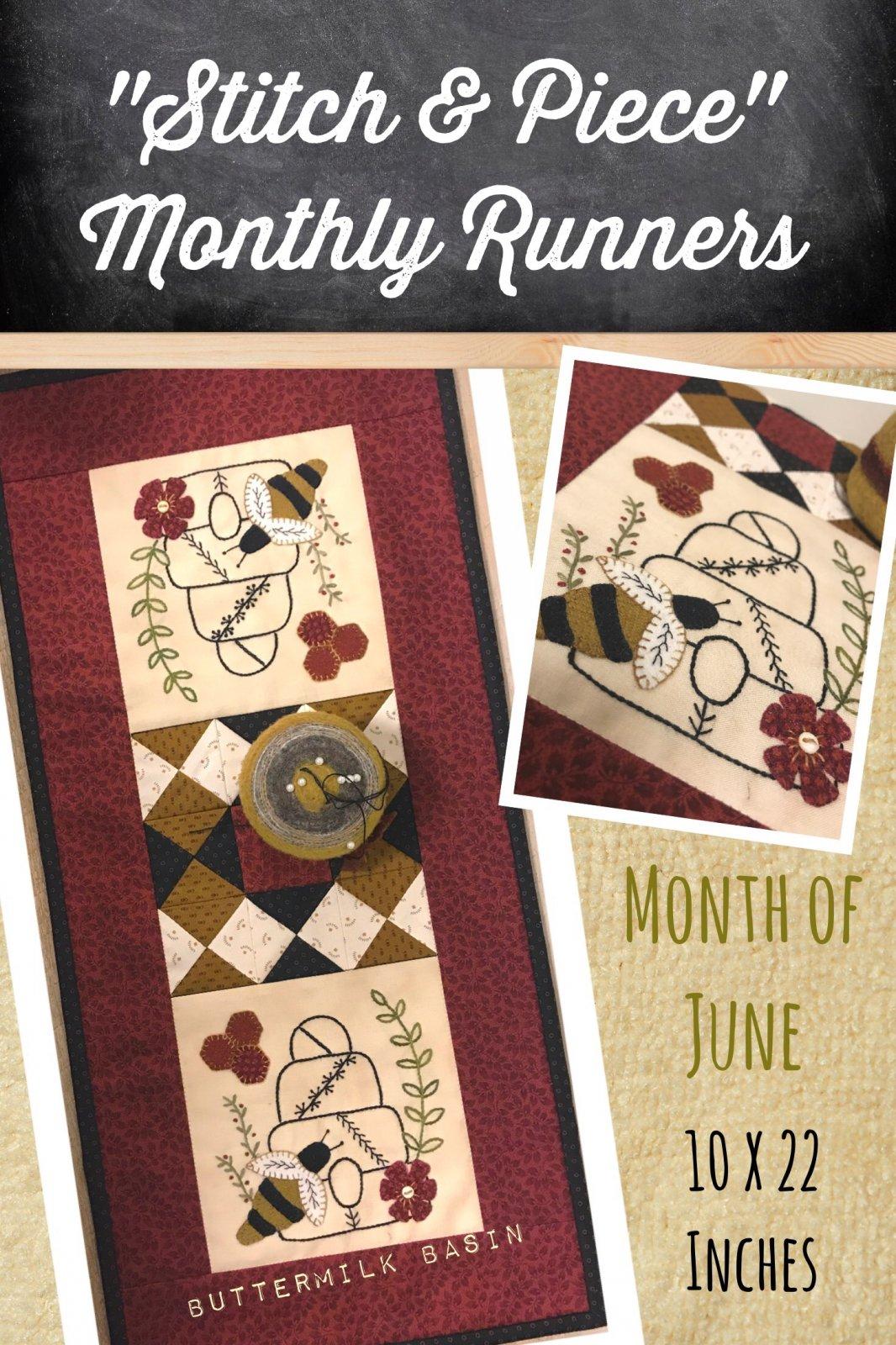 June Stitch & Piece Monthly Pattern
