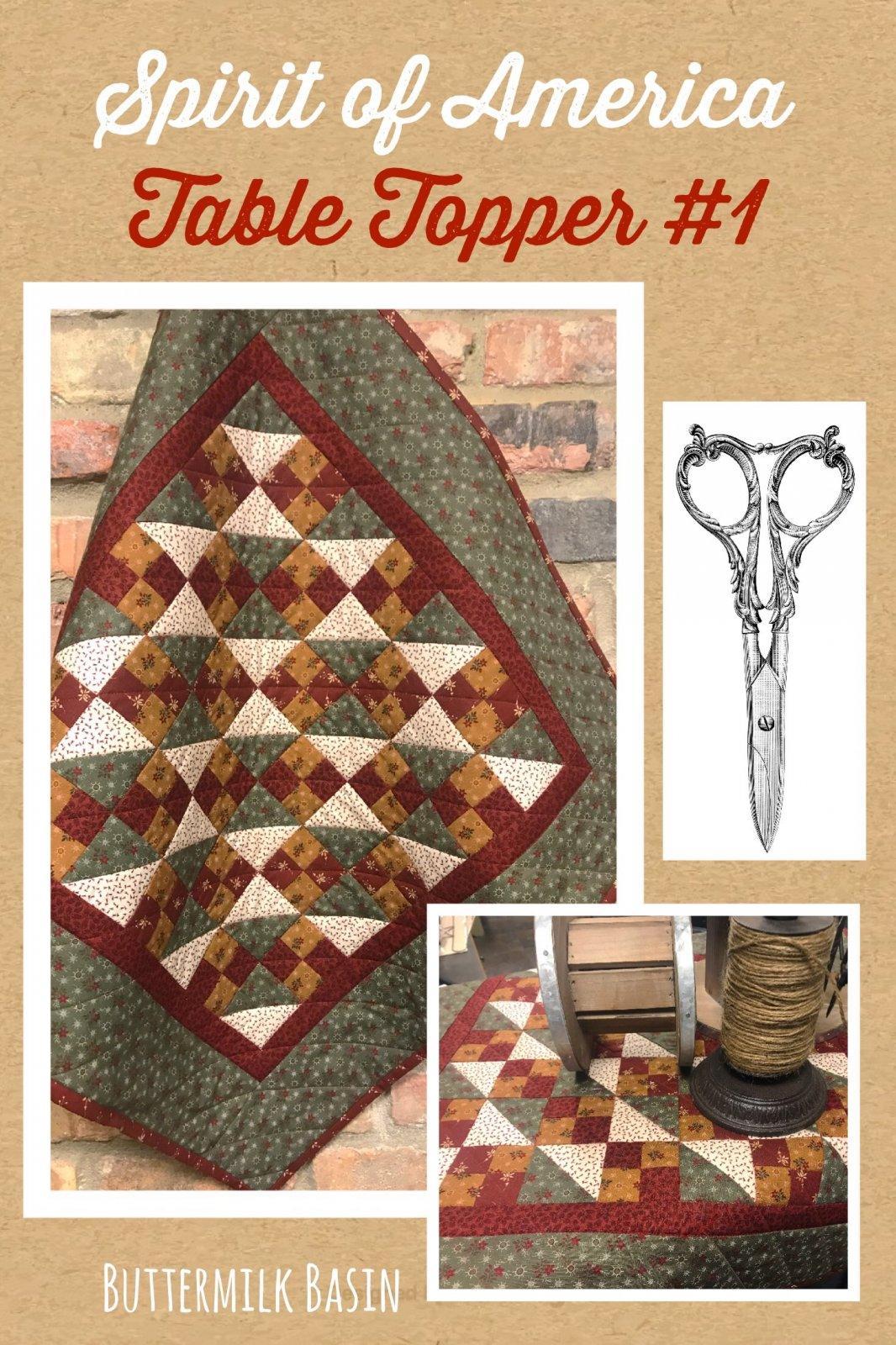 Spirit of America Table Topper #1 Pattern and Kit