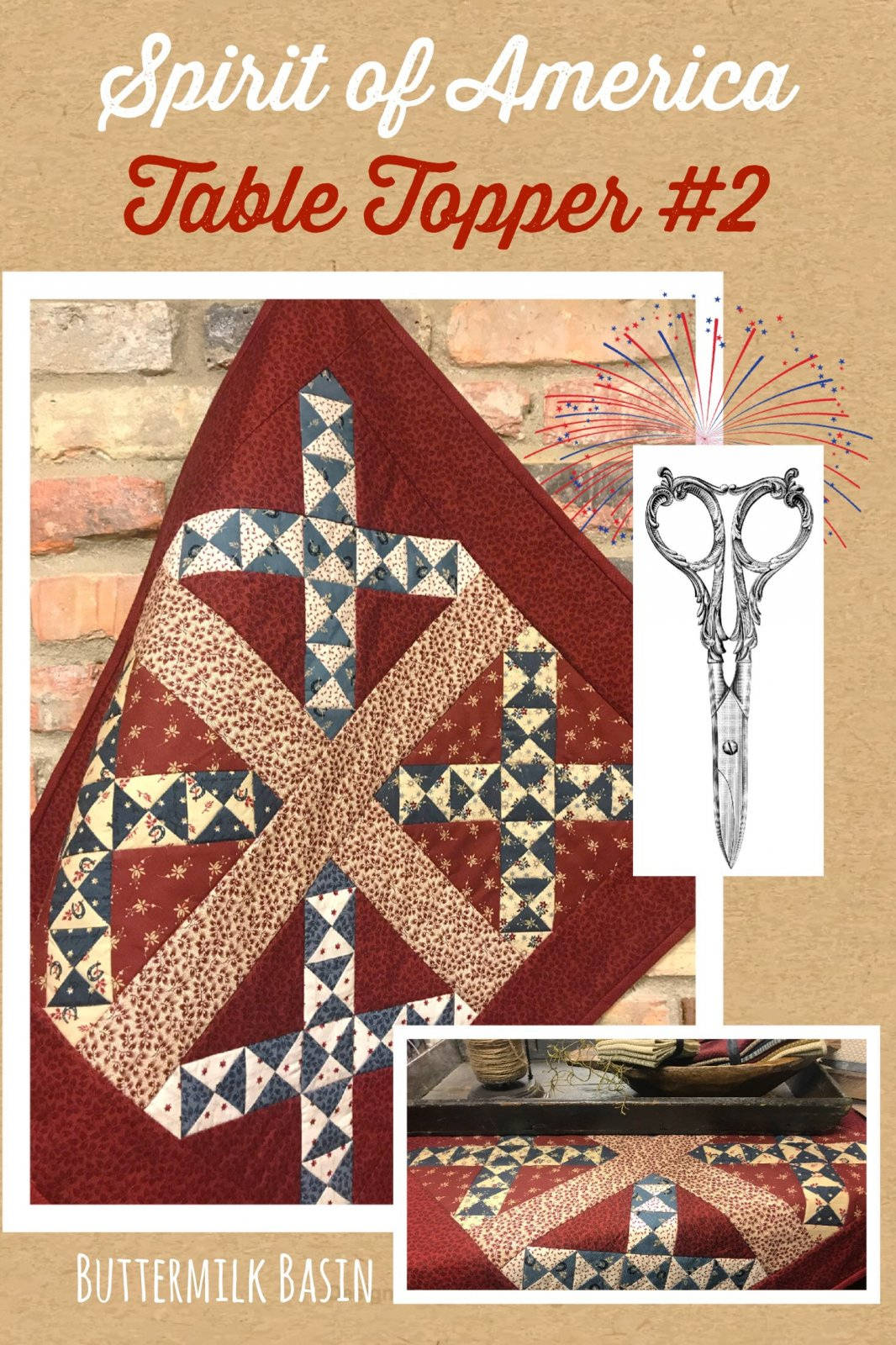 Spirit of America Table Topper #2 Pattern and Kit