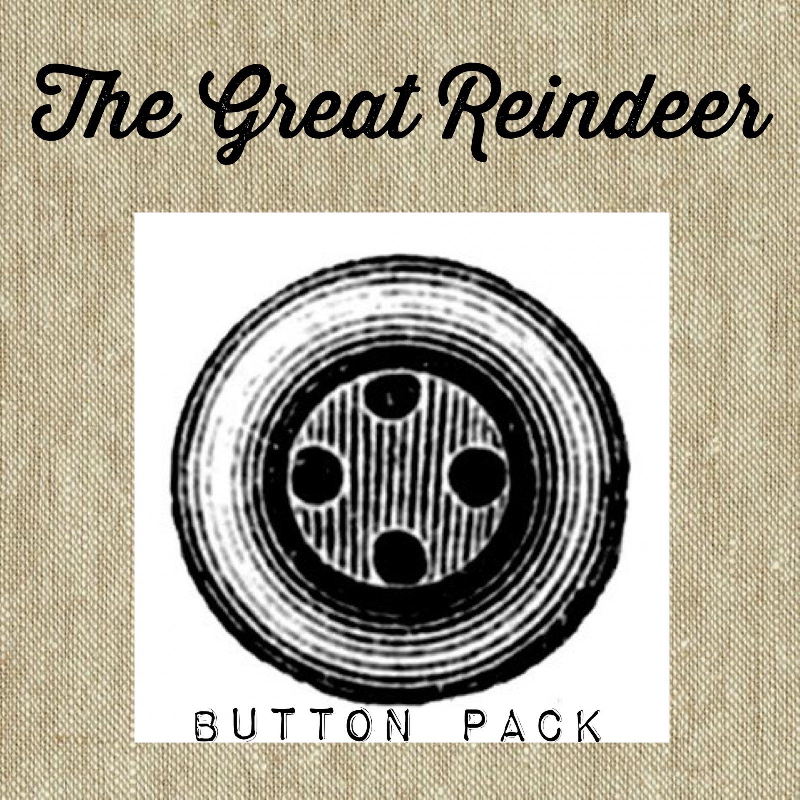 The Great Reindeer Button Pack