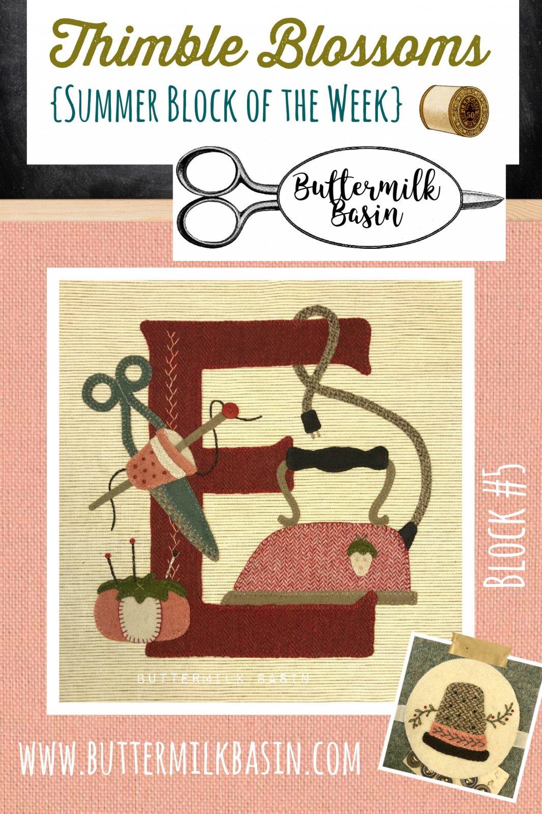 Thimble Blossoms {SBOW} Block #5 Kit & Pattern