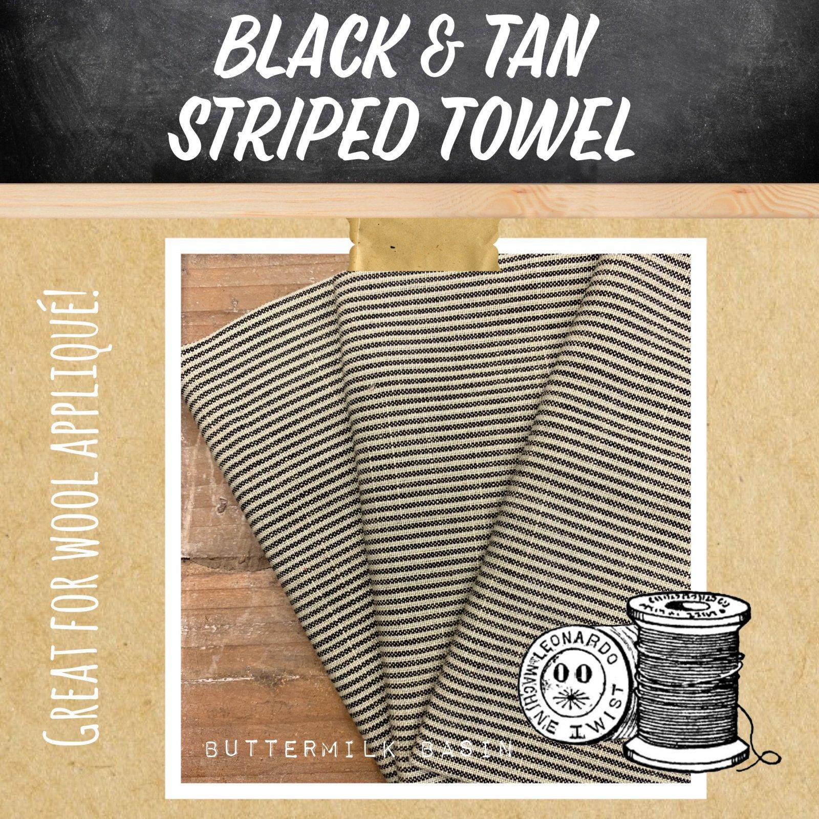 Black & Tan Striped Towel