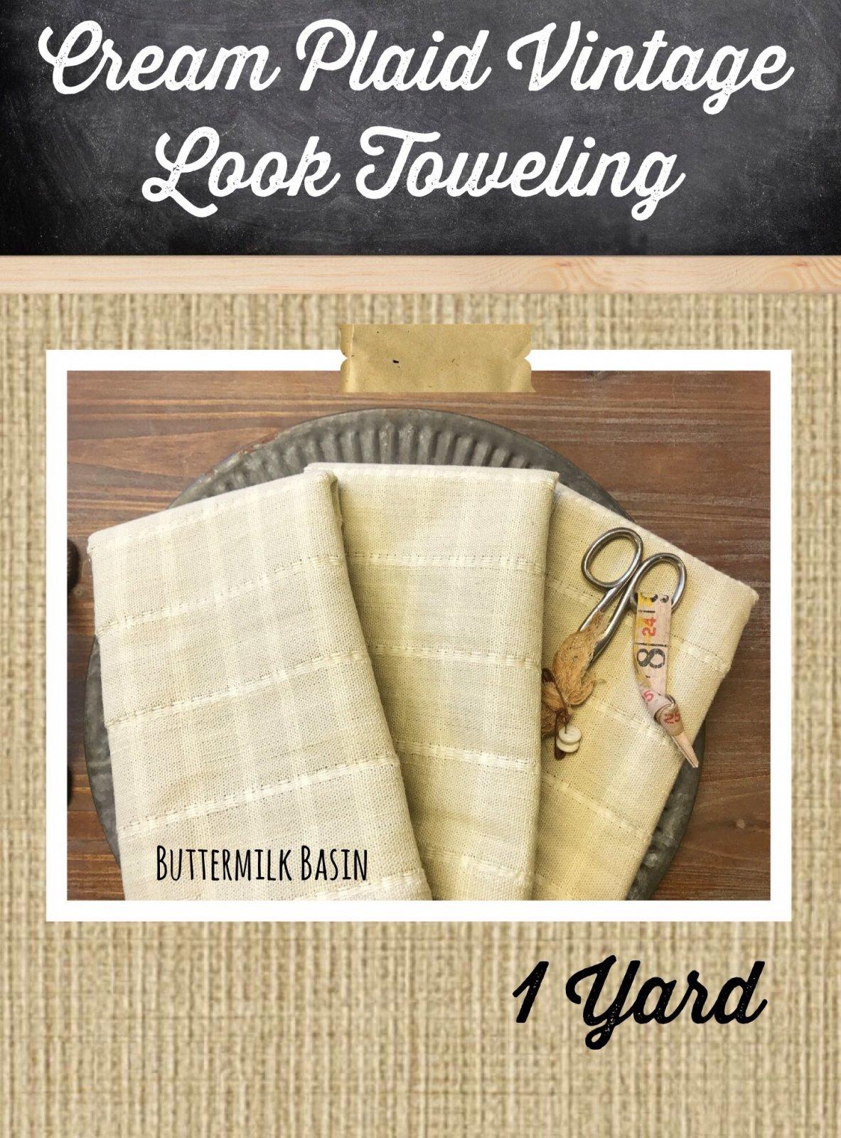 Cream Plaid Toweling