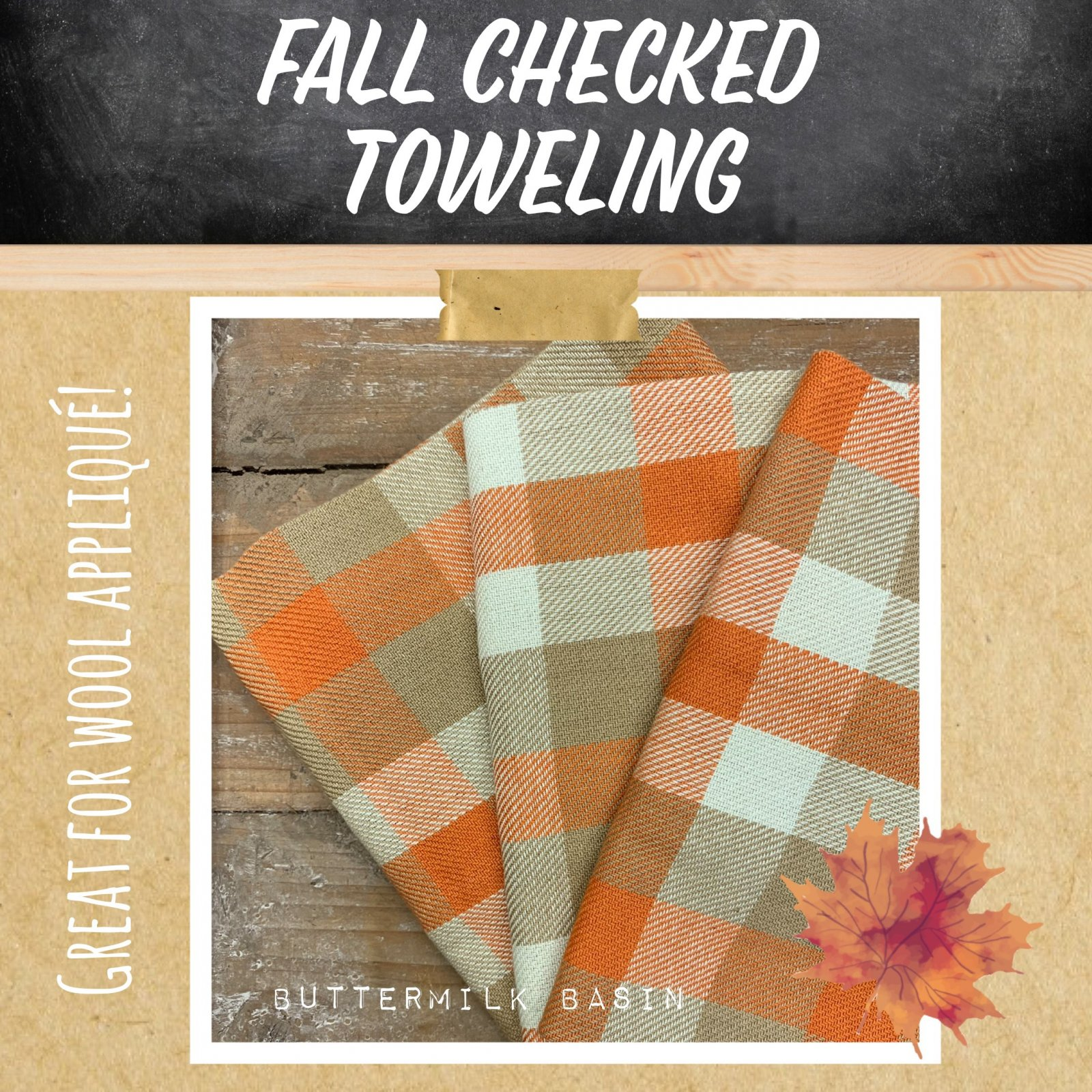 Fall Checked Toweling
