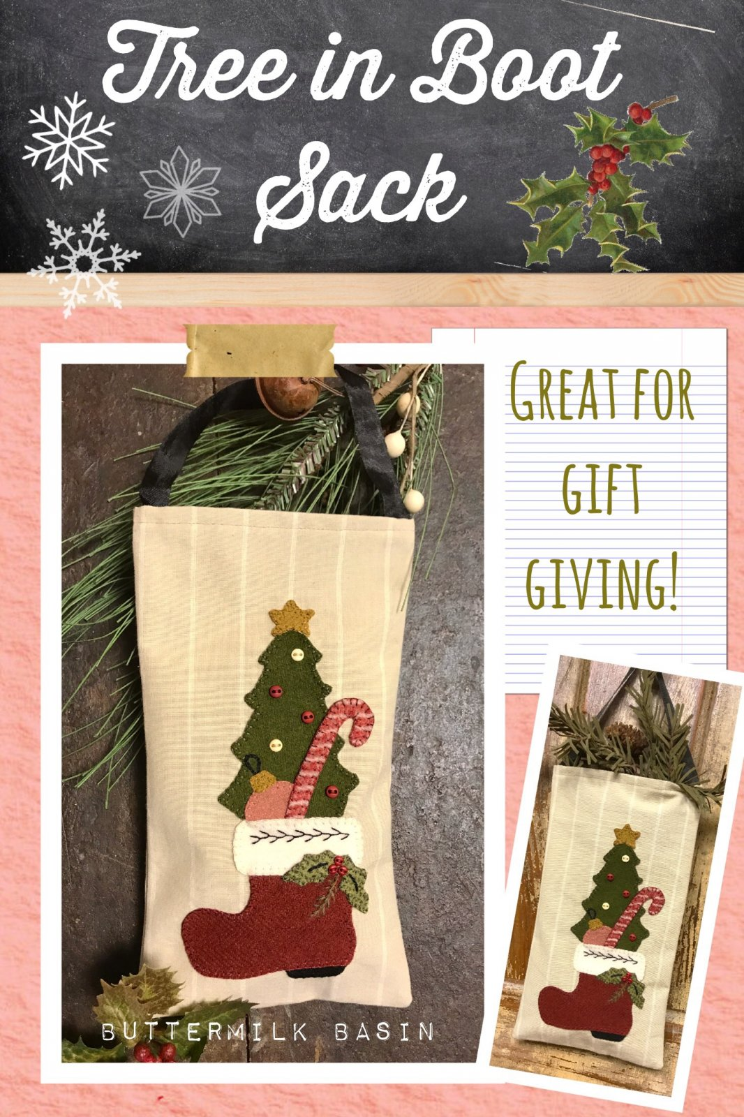 Tree in Boot Sack * KIT & Pattern