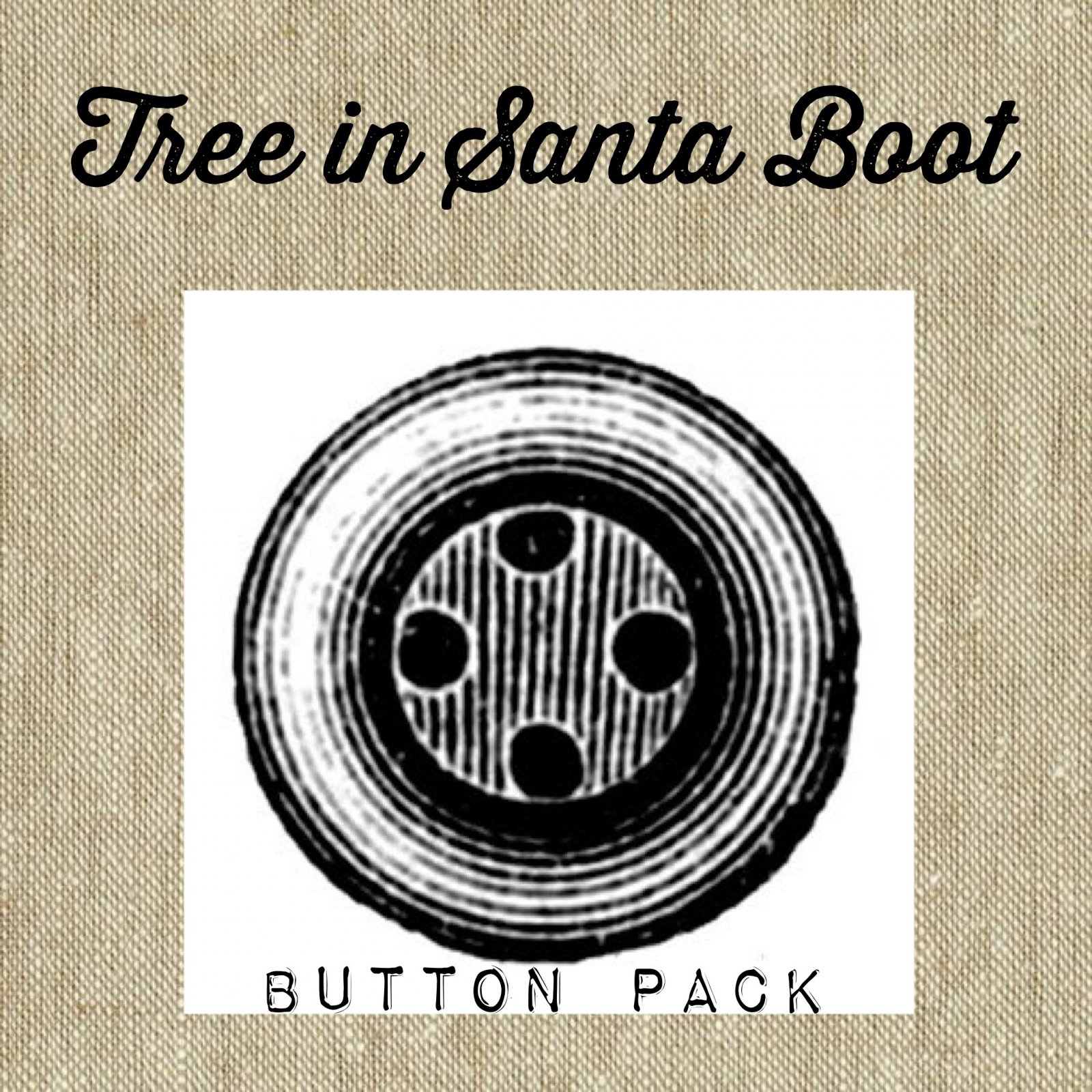 Tree in Boot Sack Button Pack