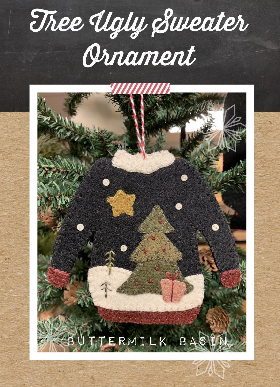 Ugly Sweater Tree Ornament *Pattern & Kit