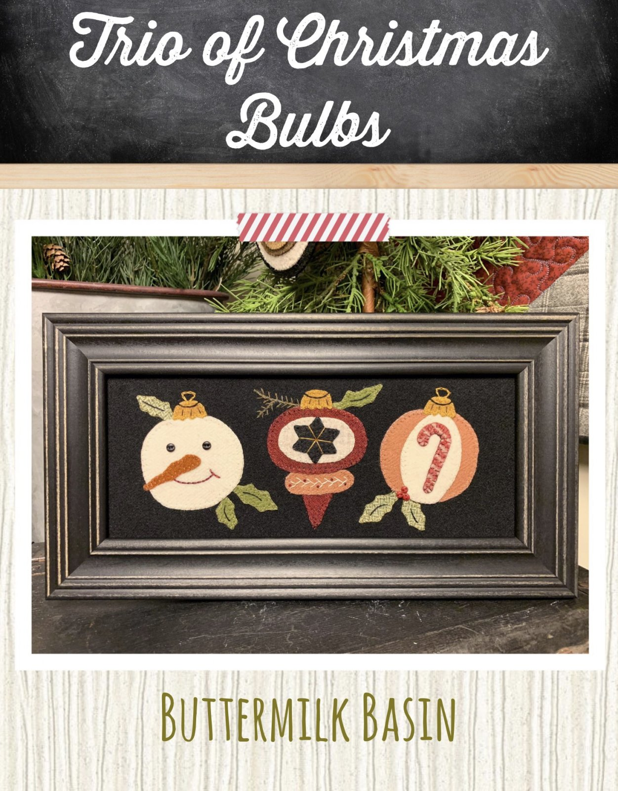Trio of Christmas Bulbs * Pattern & Kits