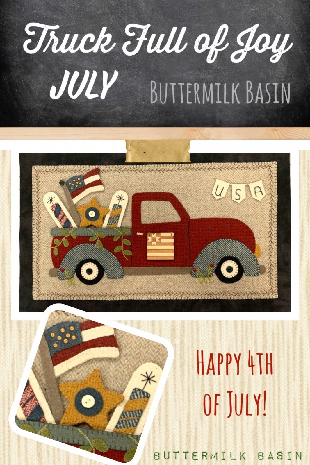 Trucks Full of Joy * July Pattern