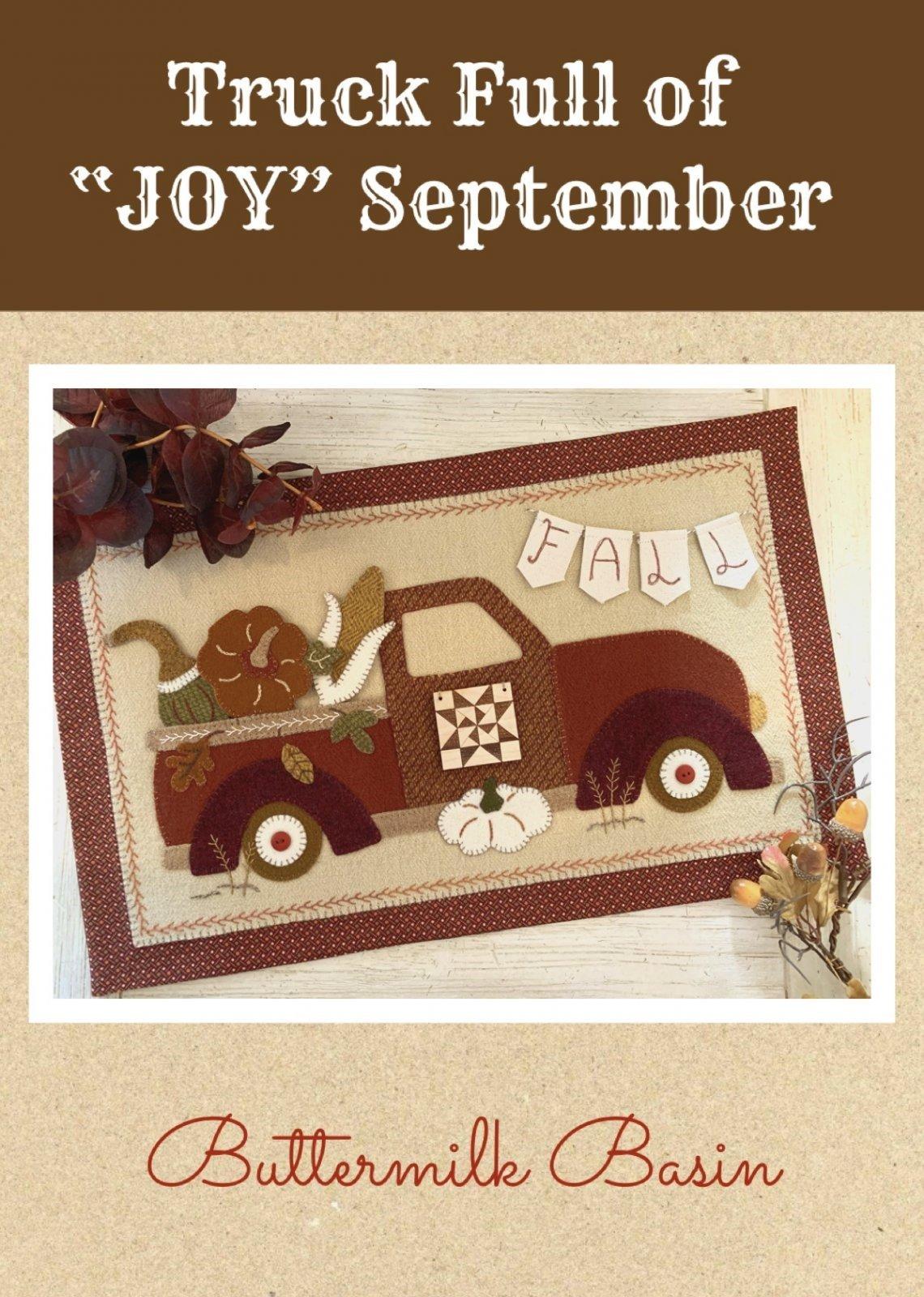 Truck Full of JOY * September * Wooden Quilt Block
