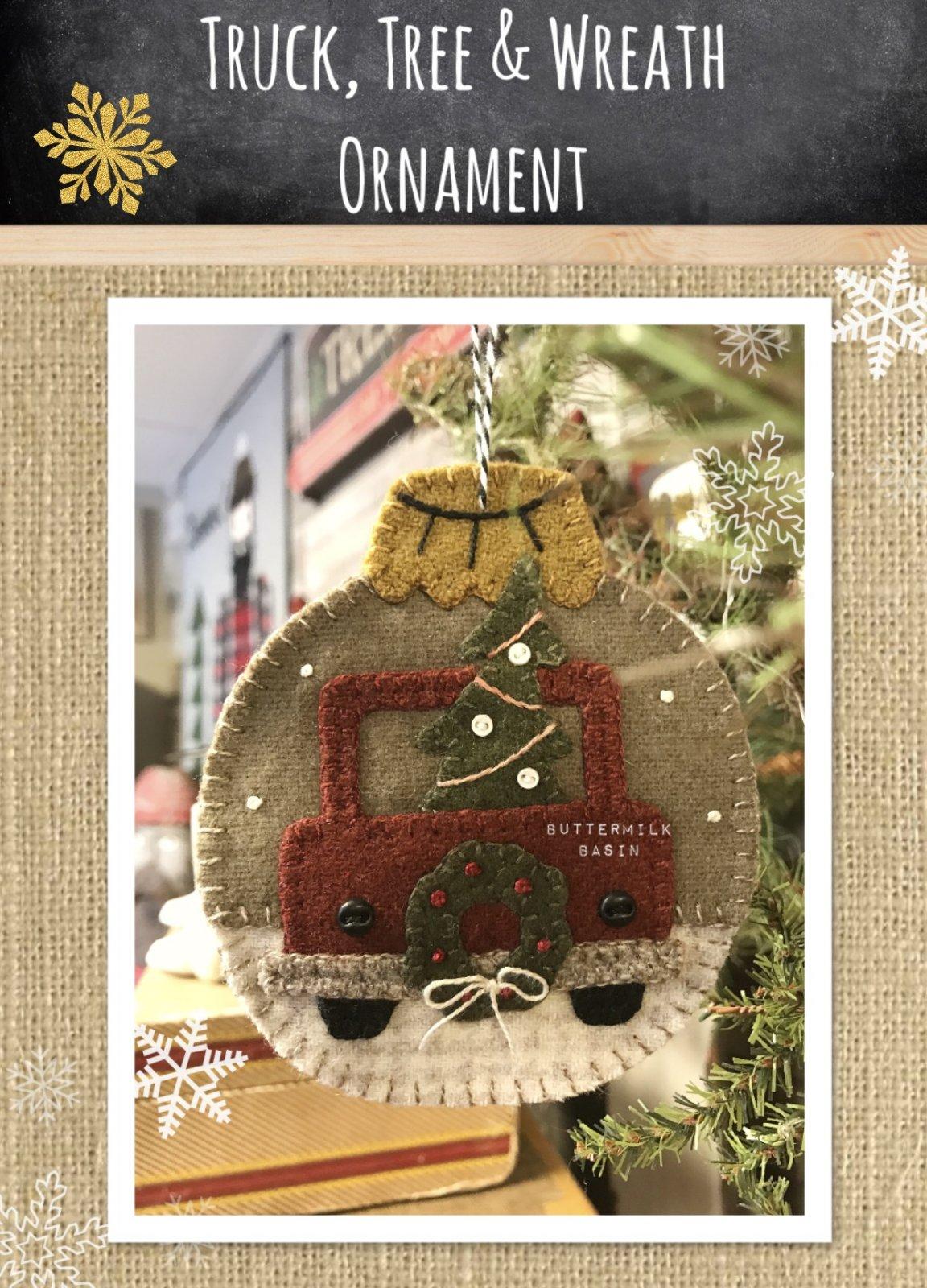 Truck, Tree & Wreath Ornament