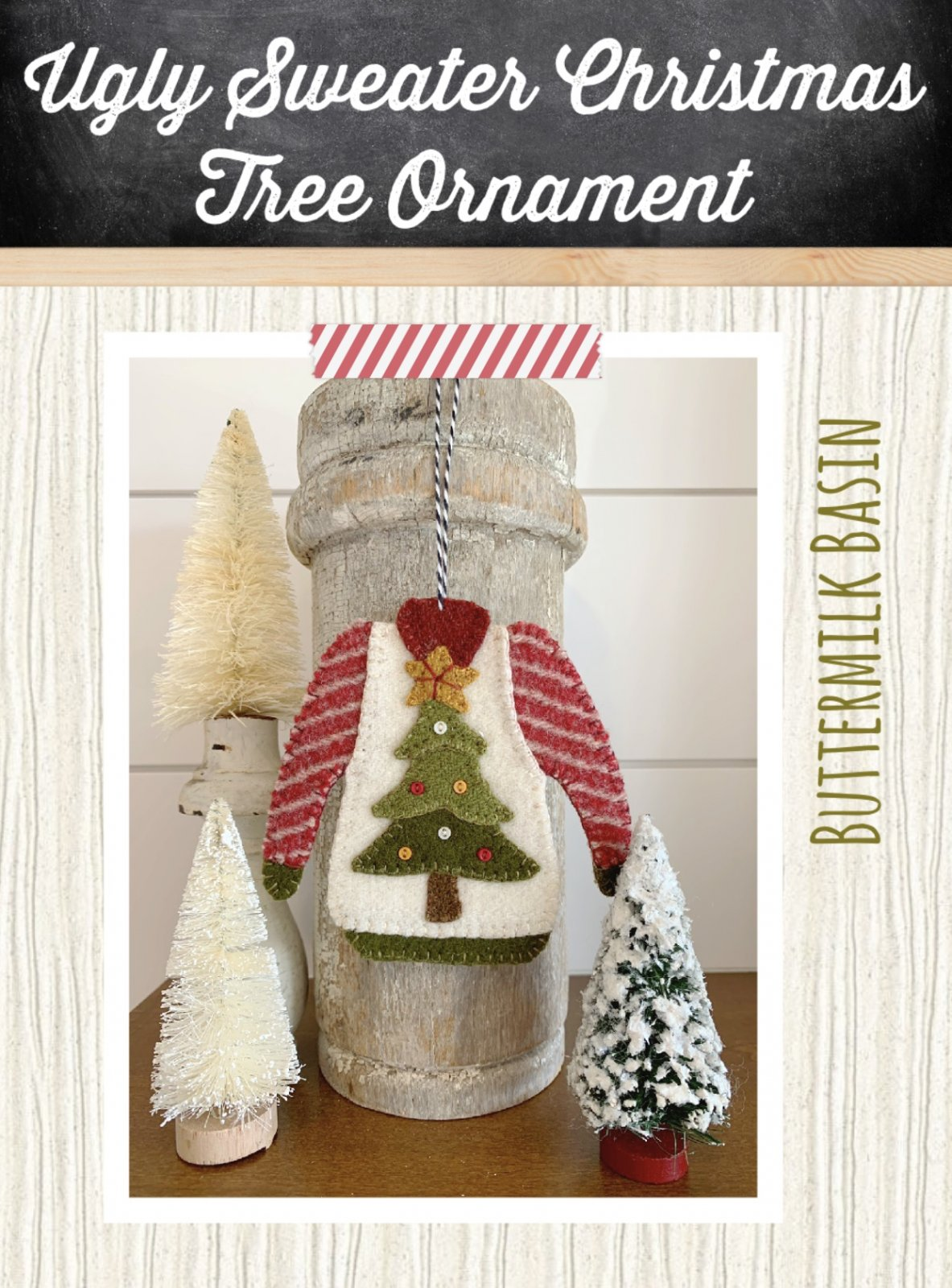 Ugly Sweater Ornament *Christmas Tree * Pattern & Kit