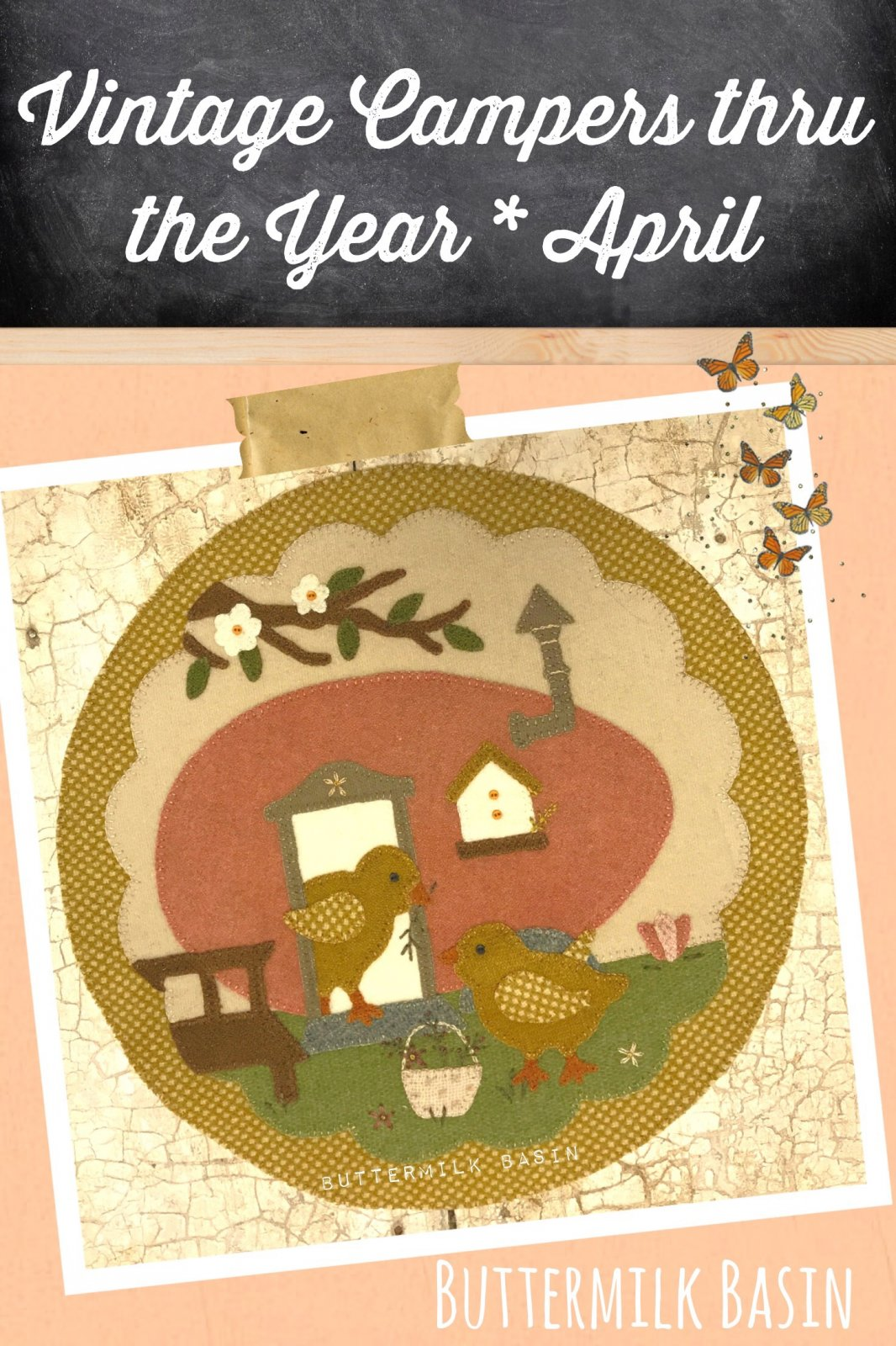 Vintage Glamper Thru the Year - April Kit & Pattern