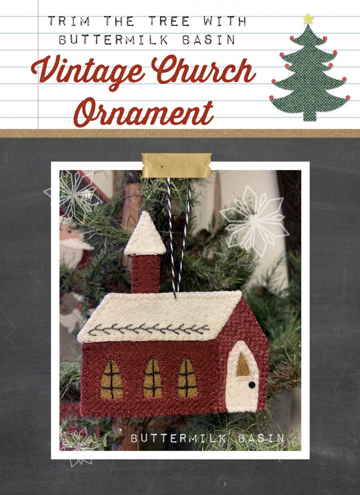 Vintage Church Ornament * Pattern & KIT