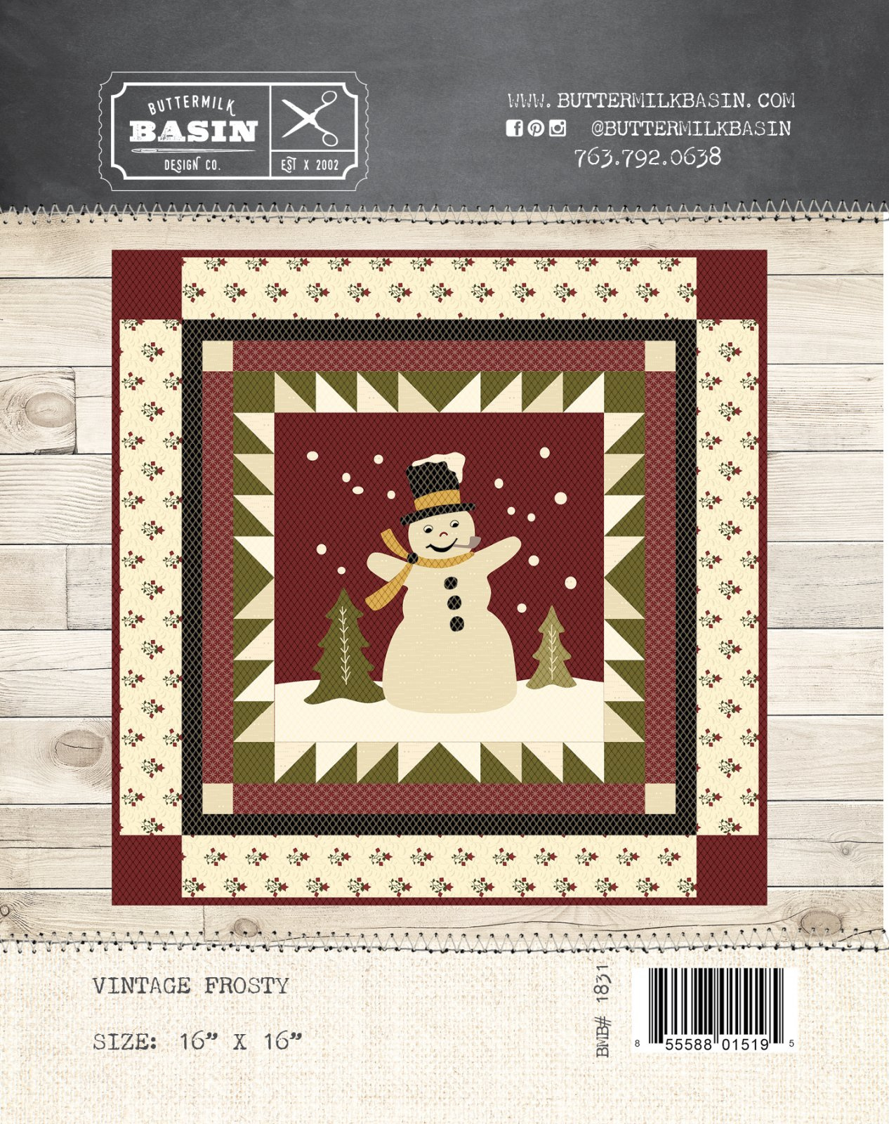 Vintage Frosty Quilt * Pattern