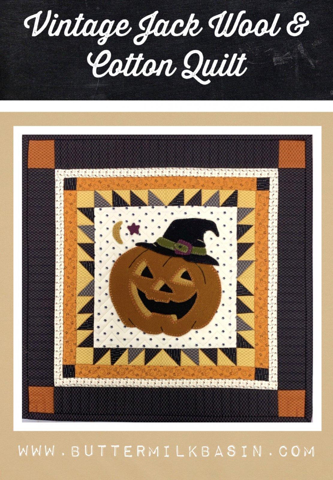 Vintage Jack Wool & Cotton Quilt * Kit & Pattern