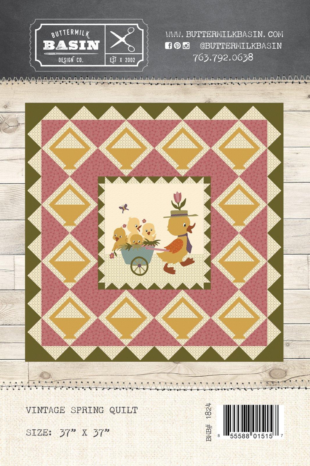 Vintage Spring Quilt * Pattern