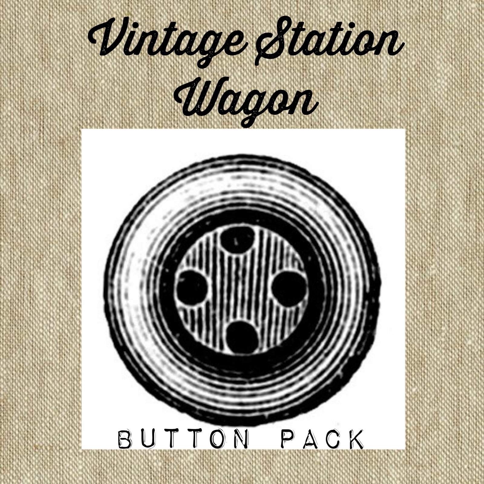 Vintage Station Wagon Button Pack