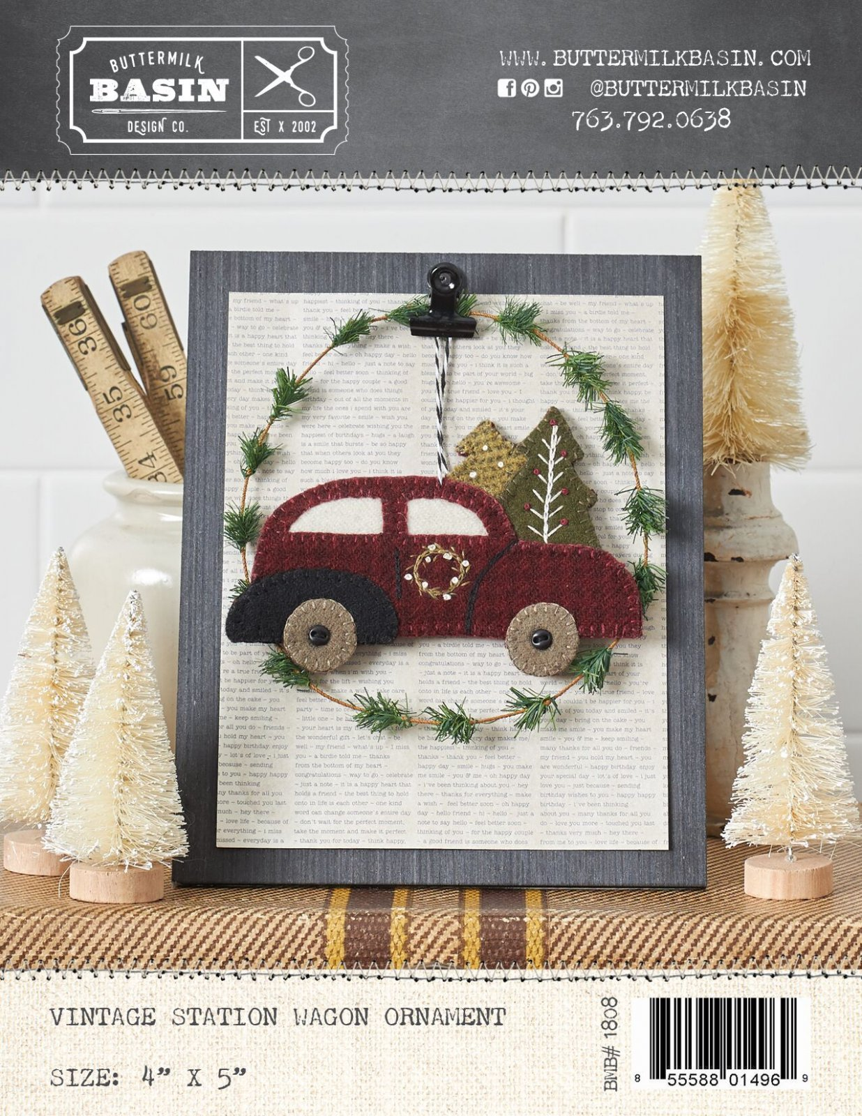 Vintage Station Wagon Ornament * Pattern & Kit