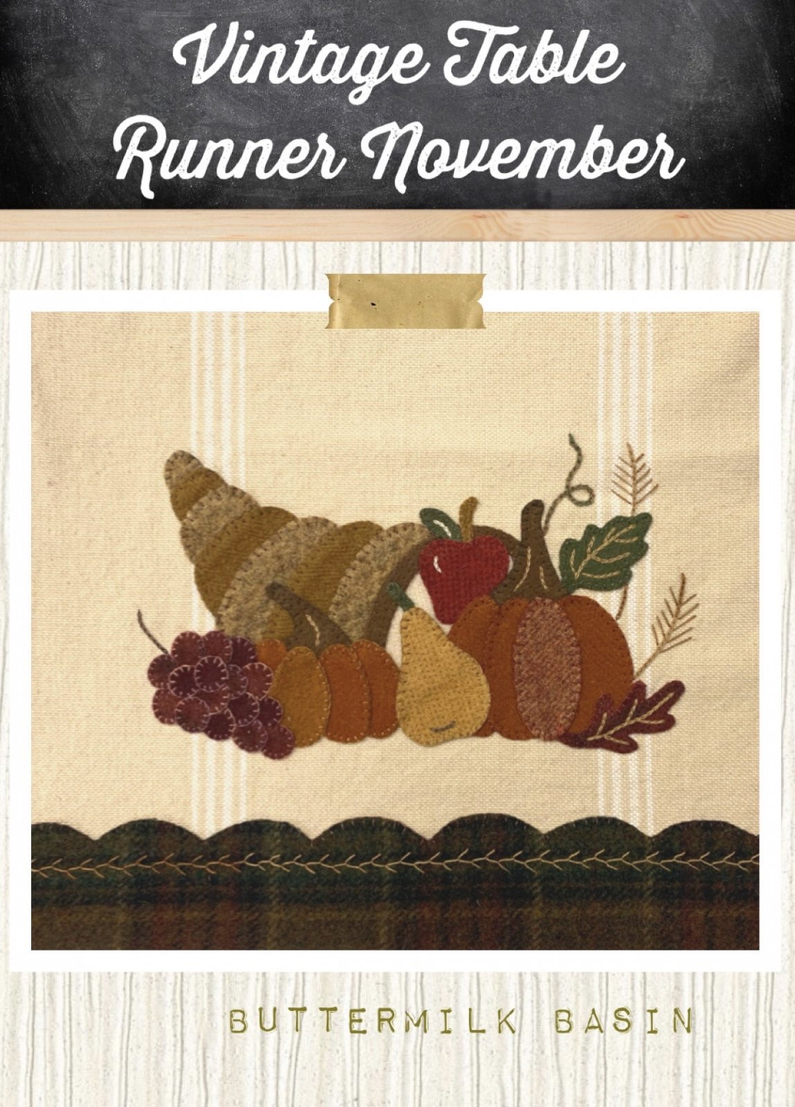 Vintage Table Runner thru the Year November *Pattern