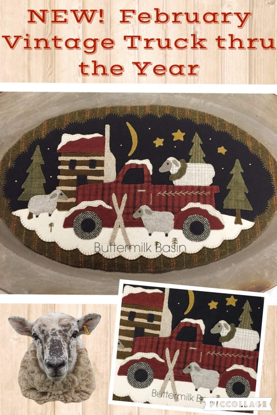 Vintage Trucks thru the Year * February Pattern