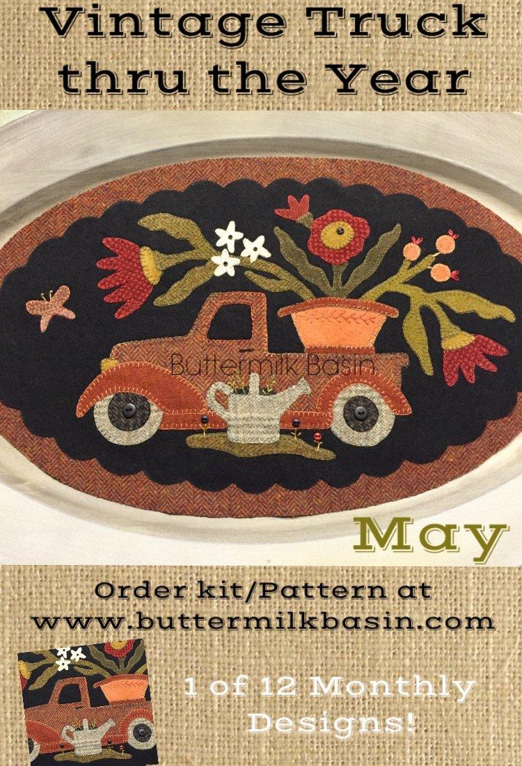 Vintage Trucks thru the Year * May Pattern
