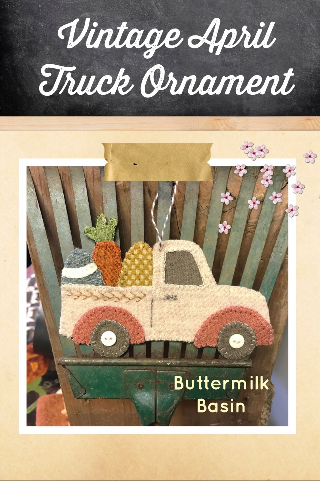 Vintage Truck  Ornament April Kit & Pattern