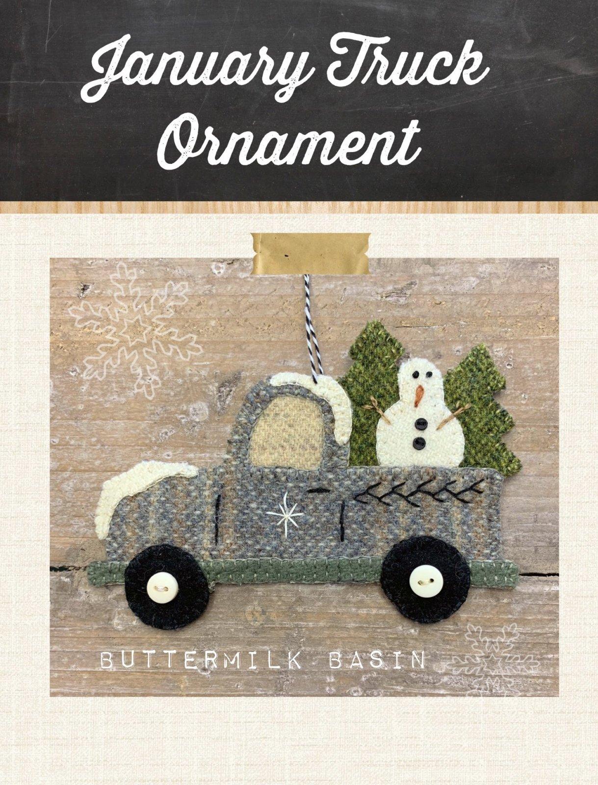 Vintage Truck Ornament January * Kit & Pattern