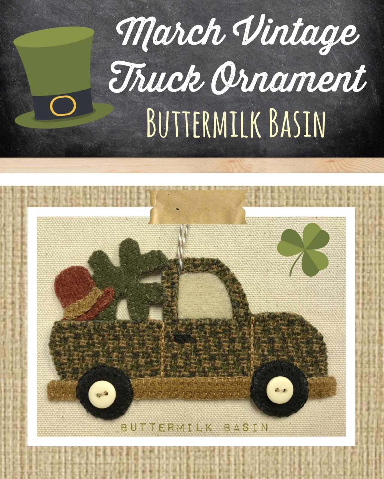 Vintage Truck  Ornament March Kit & Pattern