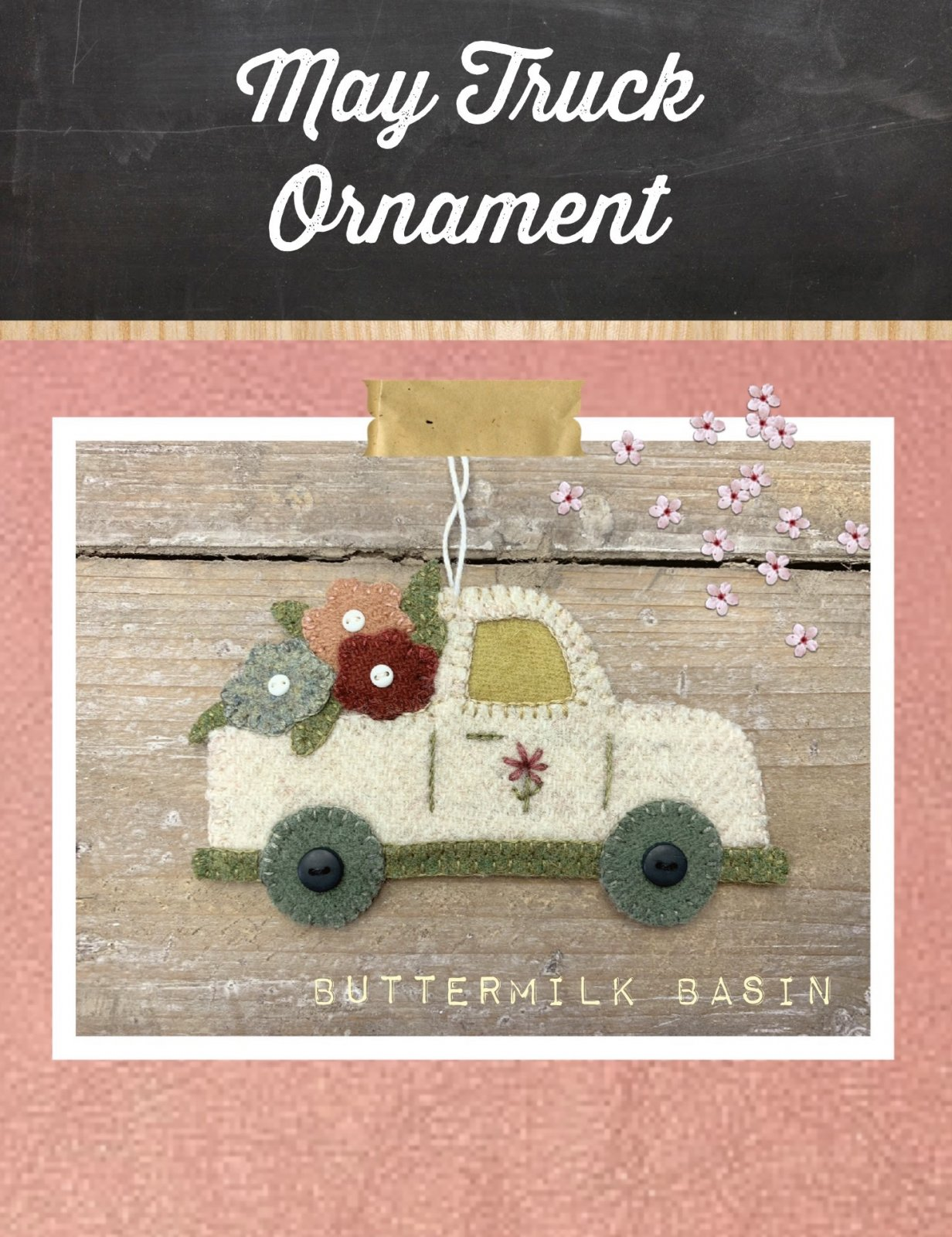 Vintage Truck Ornament May * Kit & Pattern
