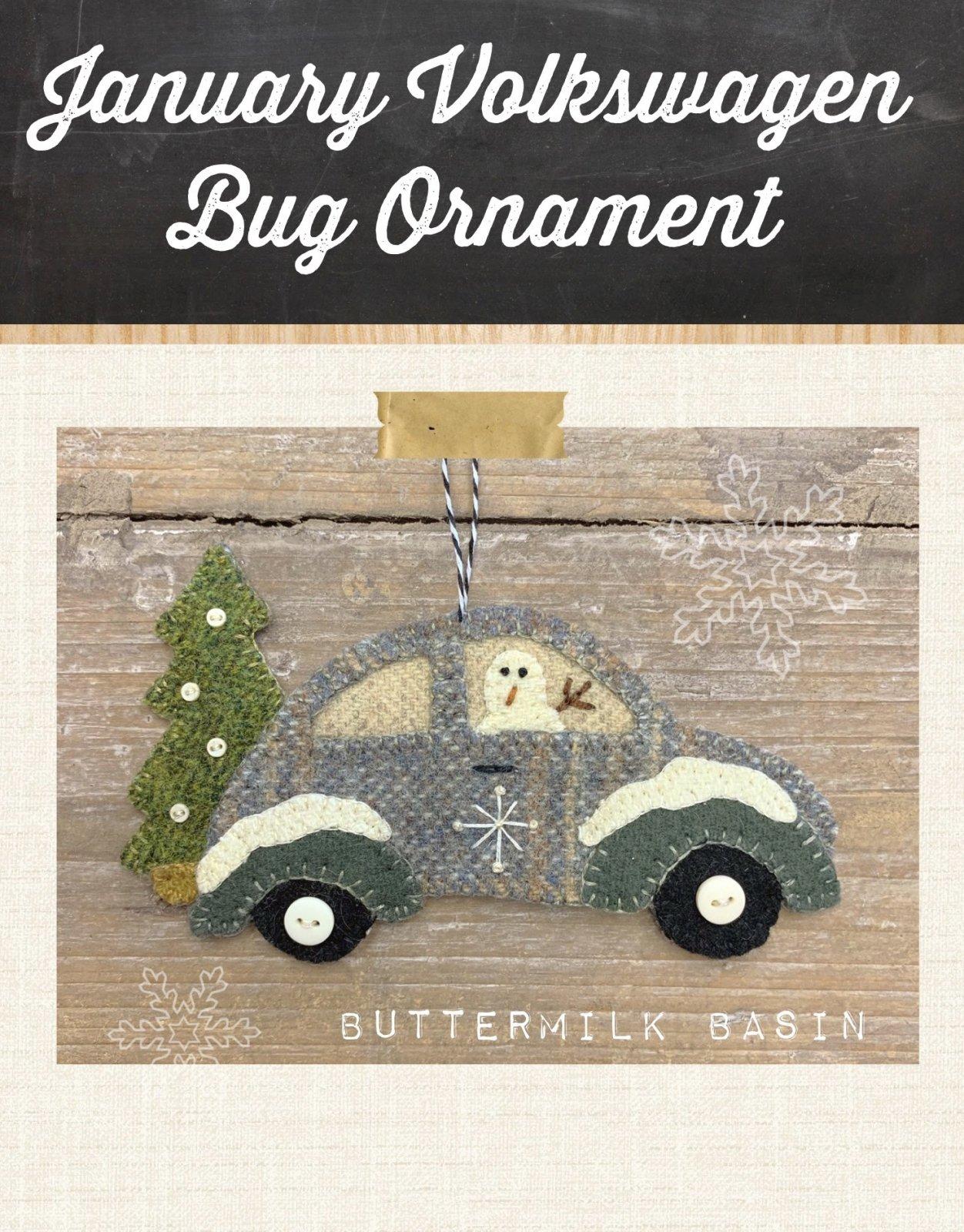 Vintage VW January Ornament KIT & Pattern