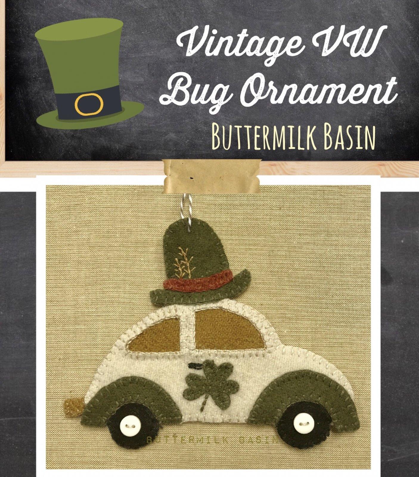 Vintage VW {MARCH} Ornament KIT & Pattern