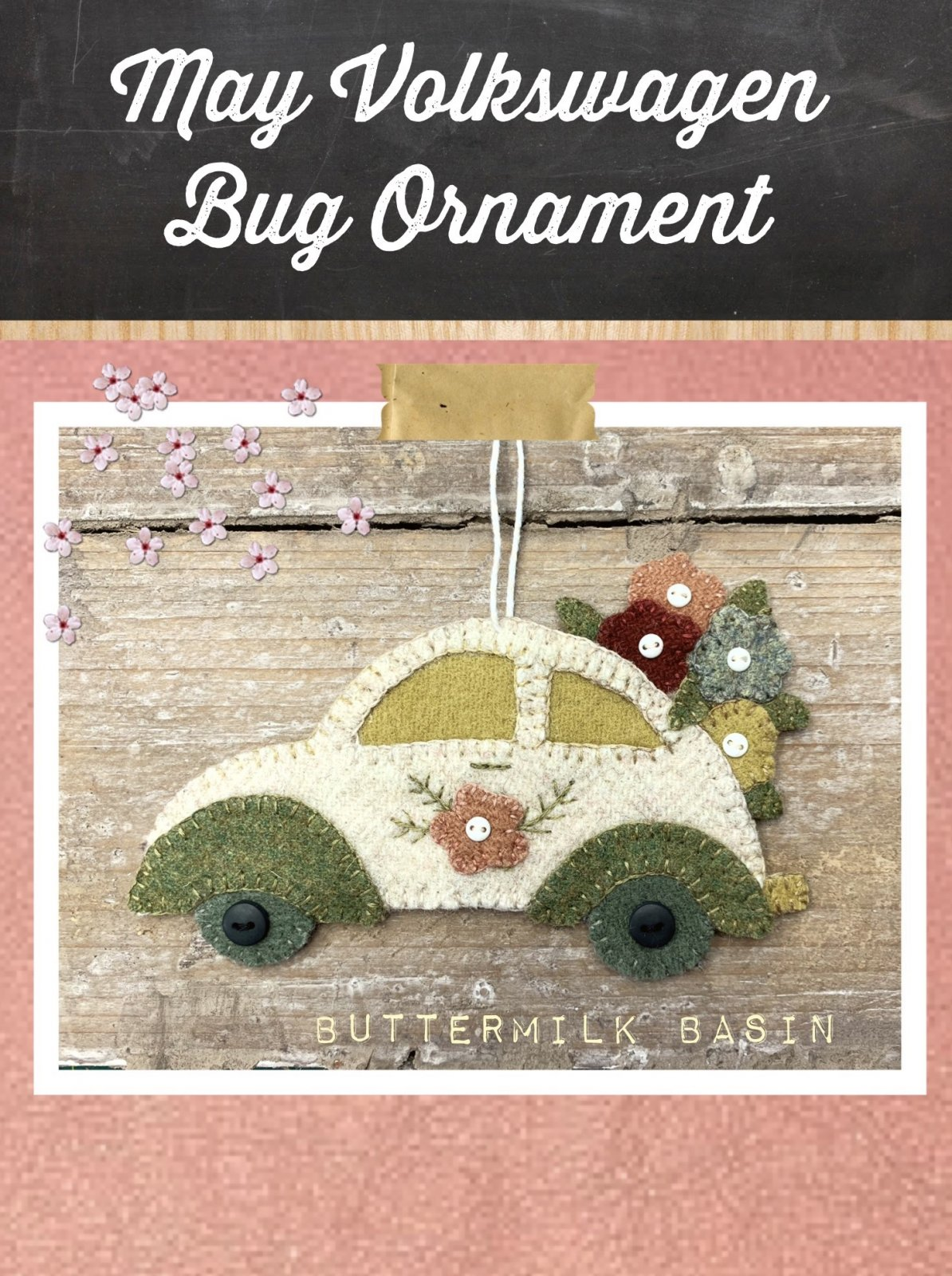 Vintage VW May Ornament KIT & Pattern