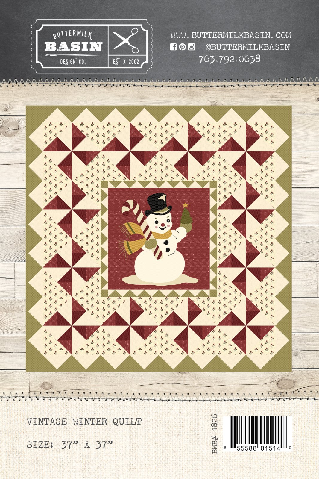 Vintage Winter Quilt * Pattern