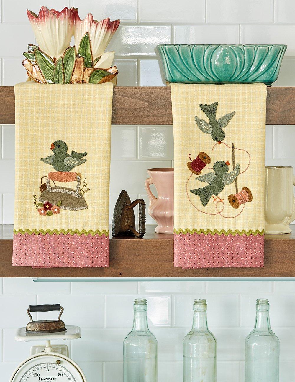 Buttermilk Basin's Vintage Vibe * Bluebird Tea Towels Kit