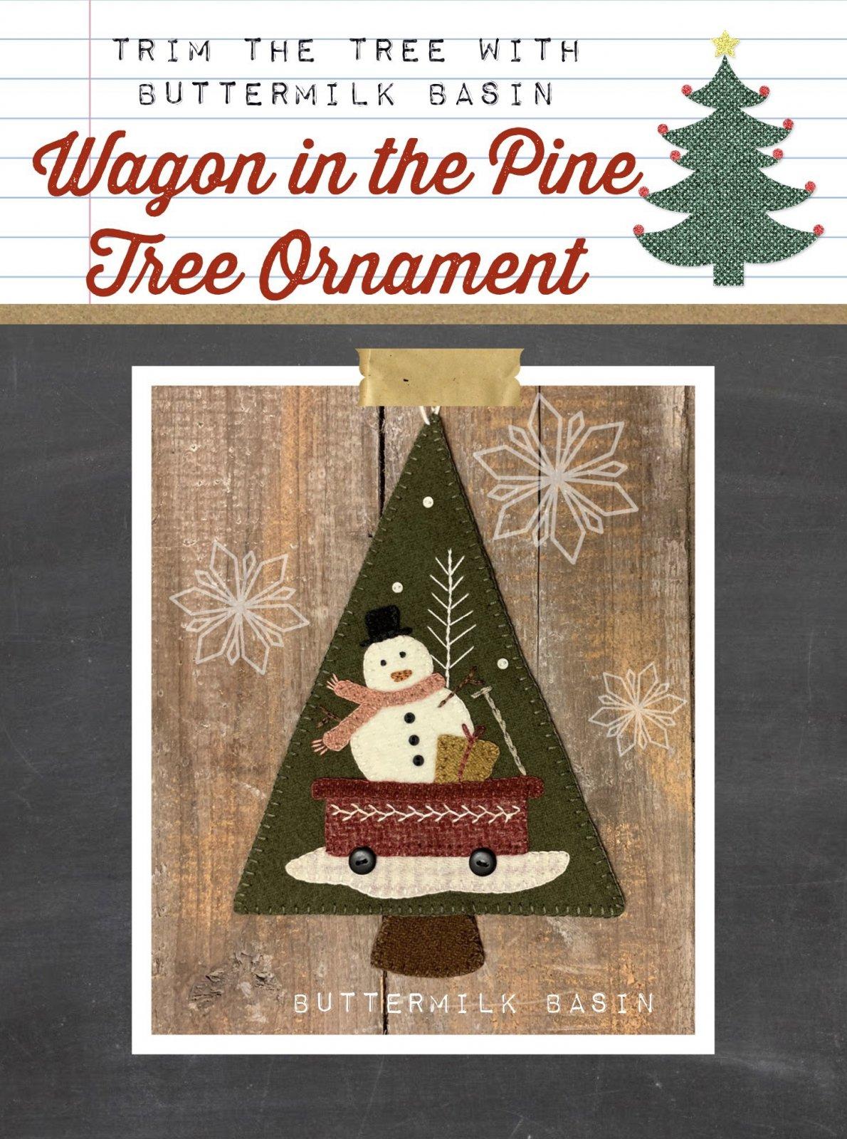 Wagon in the Pine Tree Ornament * Pattern & Kit
