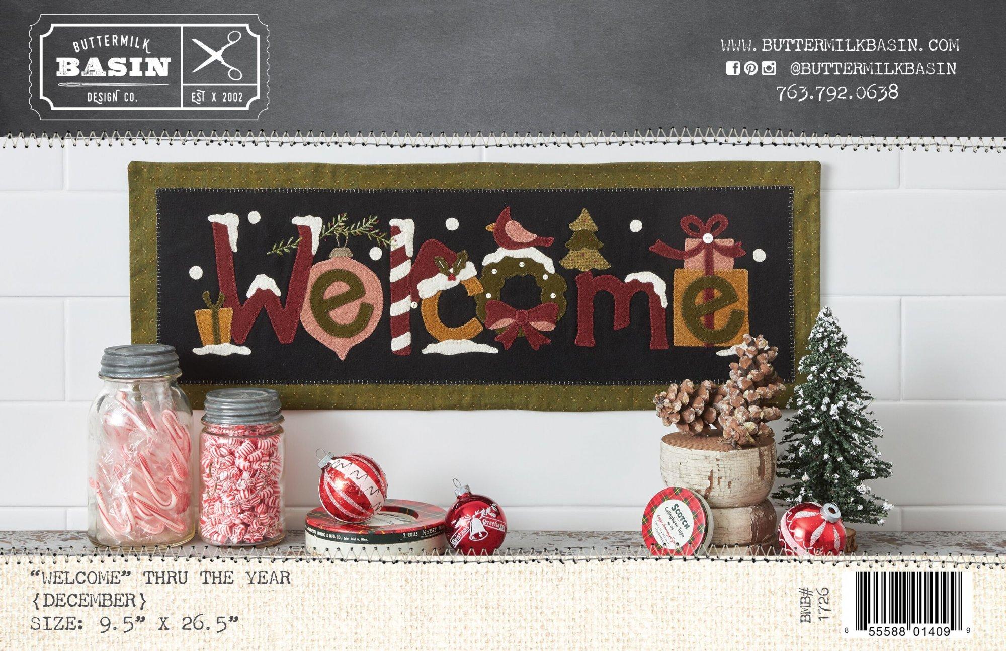 Welcome Mat thru the Year * December * KIT & Pattern