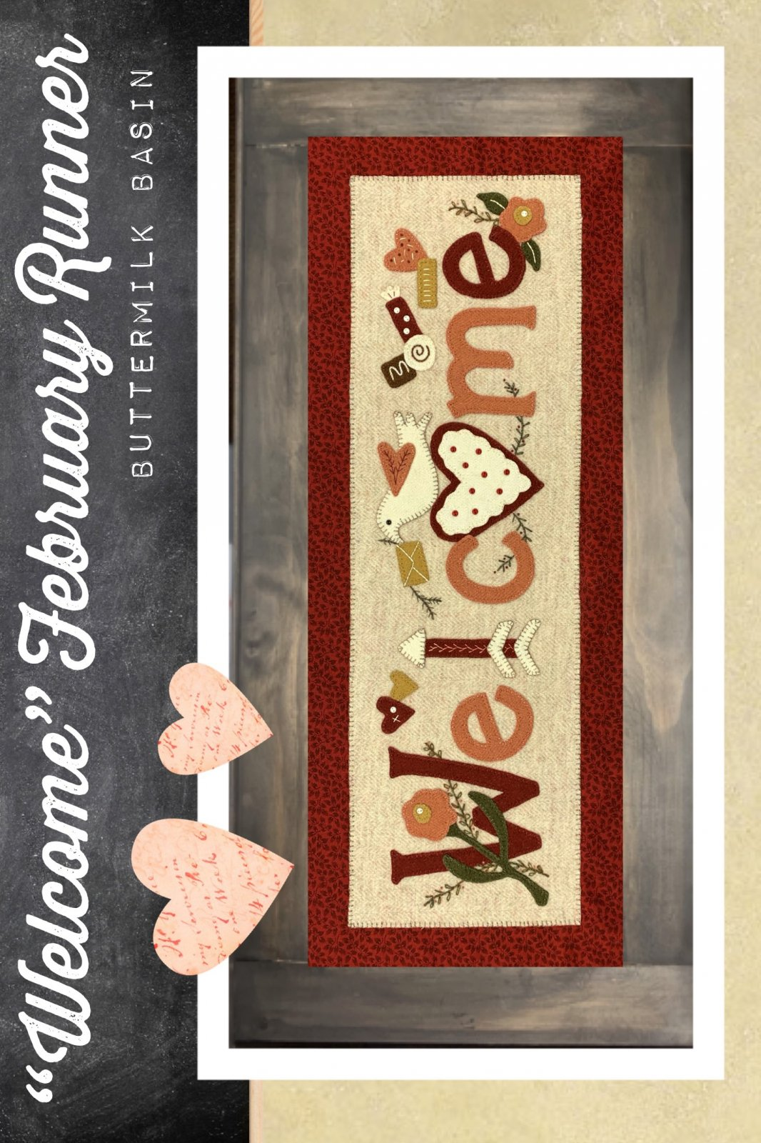 Welcome February Runner * Kit & Pattern