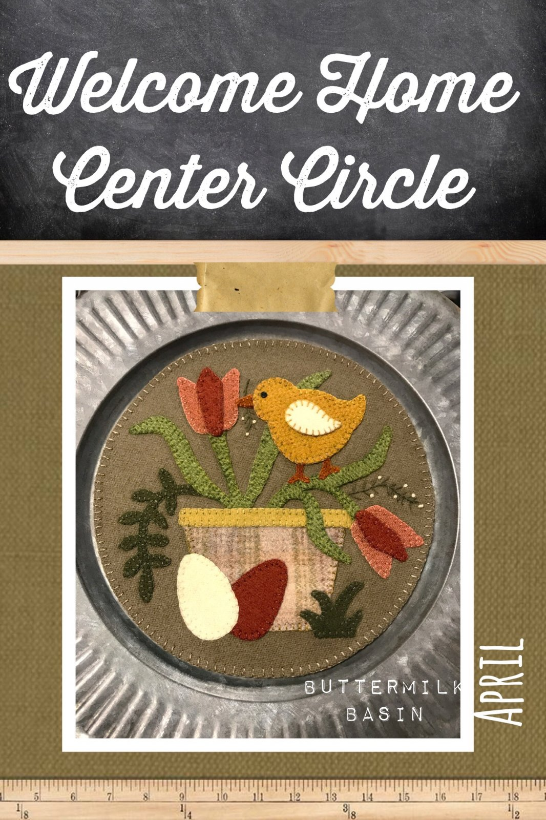 Welcome HOME April Center Circle PATTERN