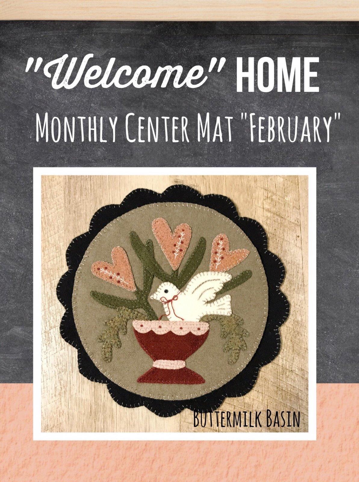 Welcome HOME February Center Circle PATTERN