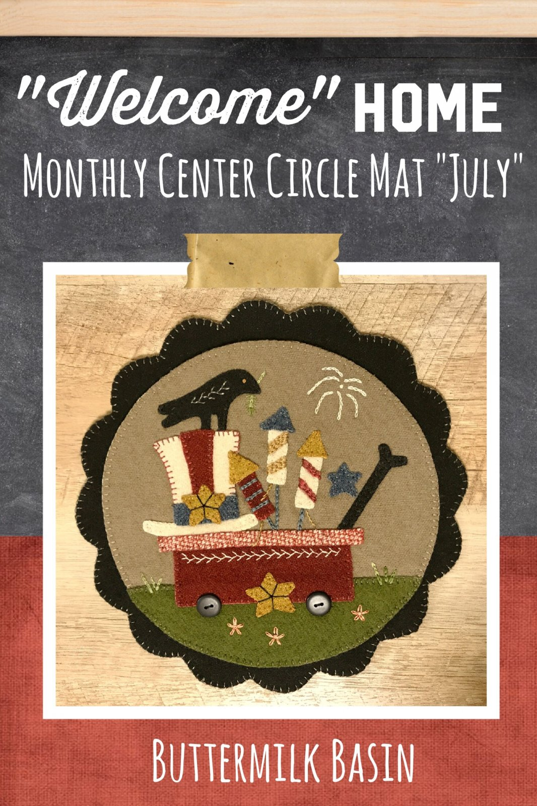 Welcome HOME July Center Circle Pattern
