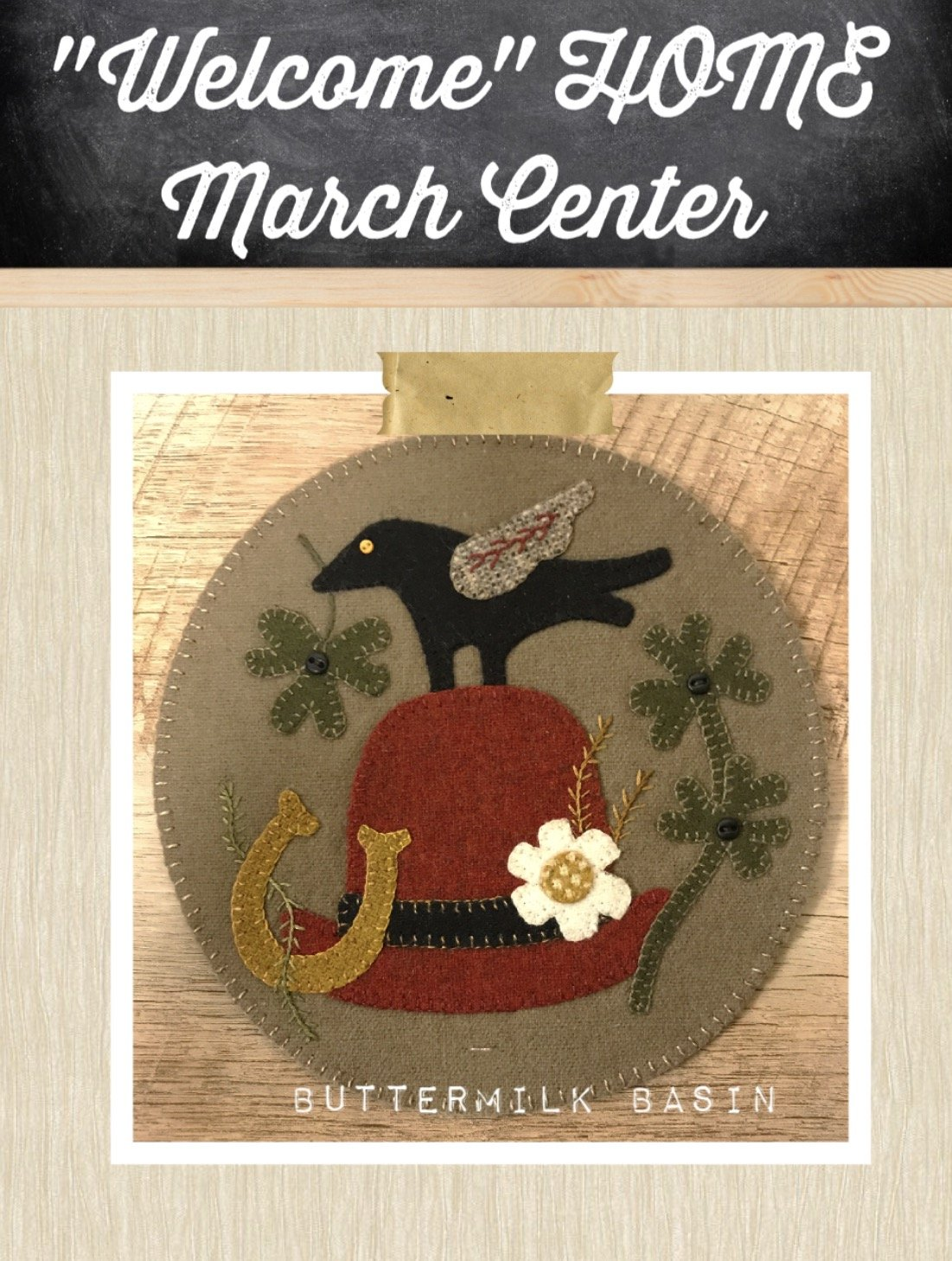 Welcome HOME March Center Circle PATTERN
