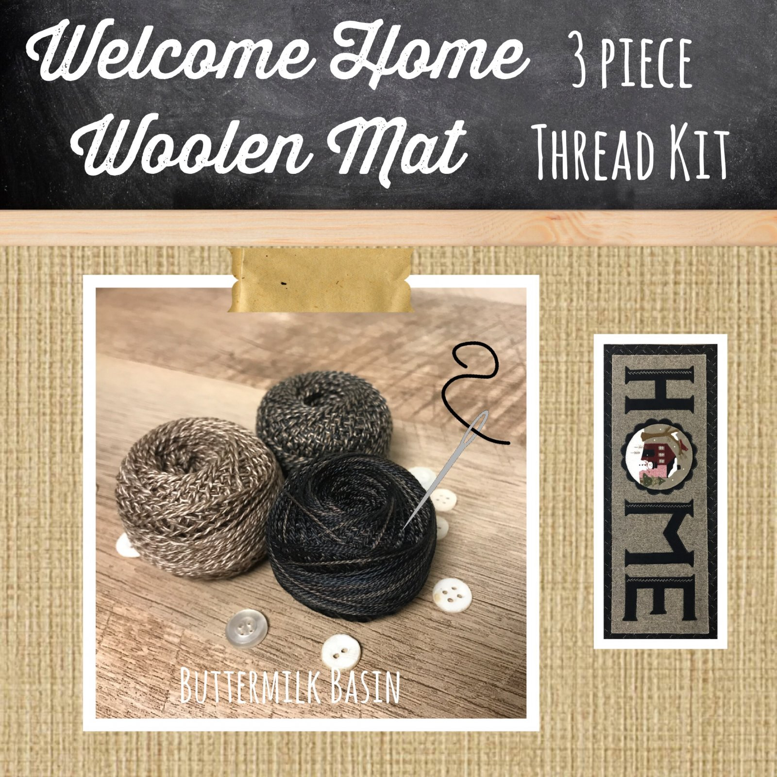 Welcome HOME Base 3 Piece Thread Kit