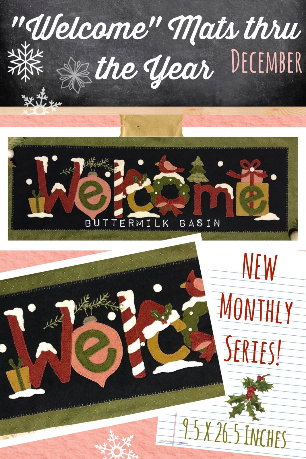 Welcome Mat thru the Year * December * KIT & Pattern