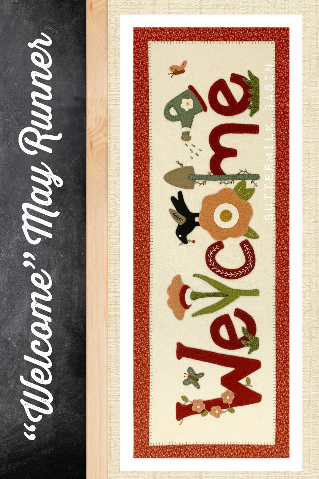Welcome May Runner *Kit & Pattern