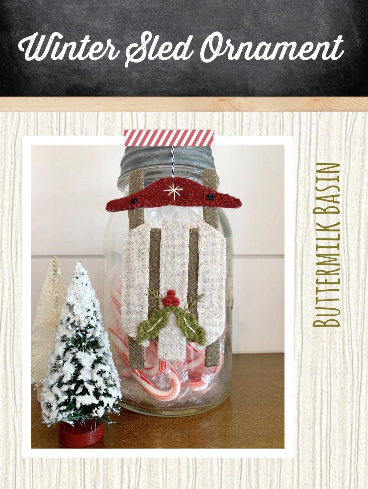 Winter Sled Ornament * Pattern & Kit