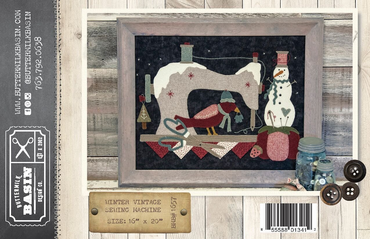 Winter Vintage Sewing Machine WOOL KIT & Pattern