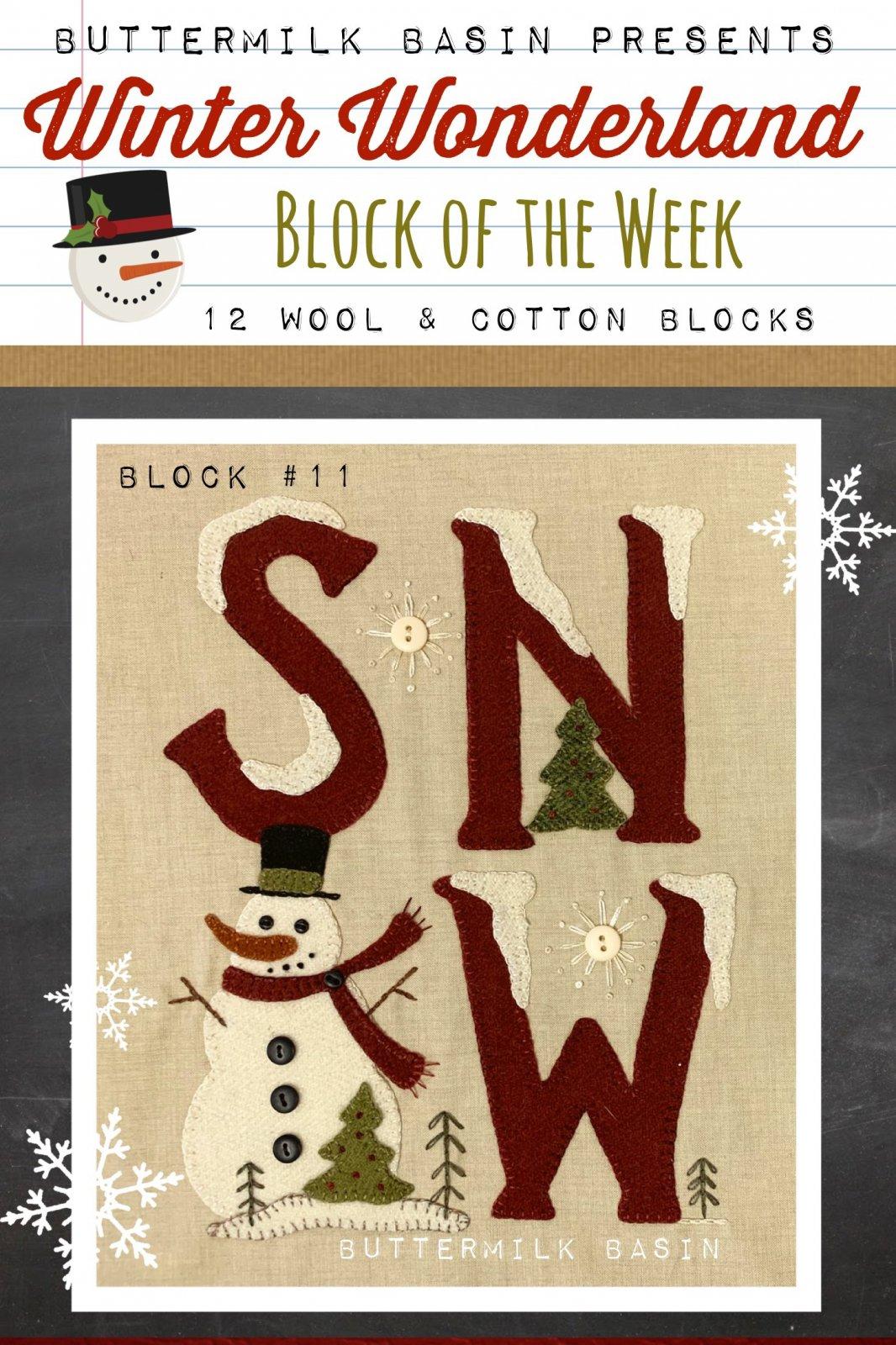 Winter Wonderland Block #11 *Kit & Pattern